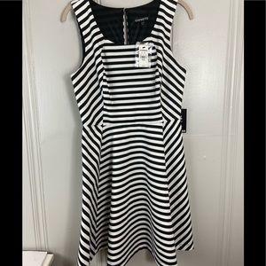 New express women's. Stripe sleeveless dress M
